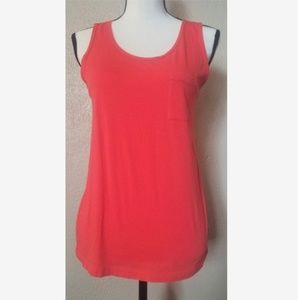 J Crew Coral Pocket Tank - 100% Cotton